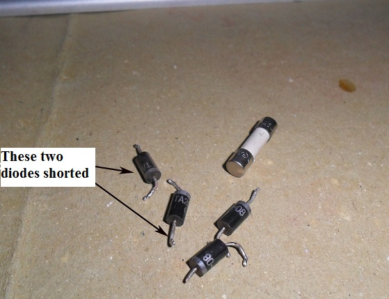 tv diode shorted
