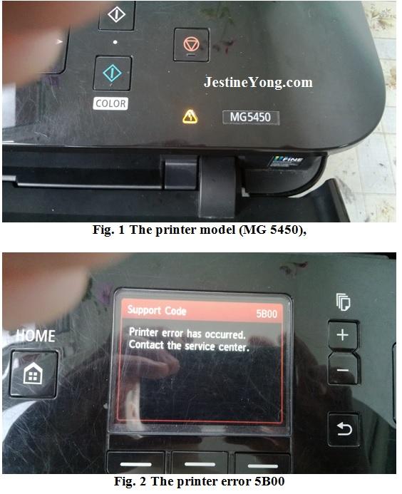 printer mg5450 repairing