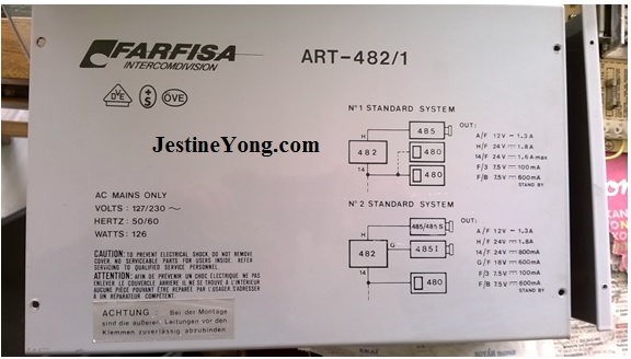 13 farfisa art 482 1 door entry intercom repair electronics repair farfisa door entry wiring diagrams at crackthecode.co