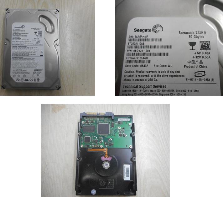 seagate 80gb hard disk repairing