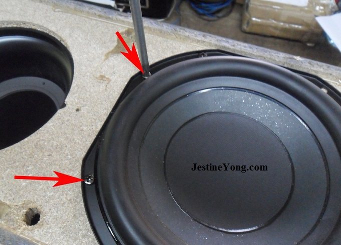 how to open sealed samsung subwoofer