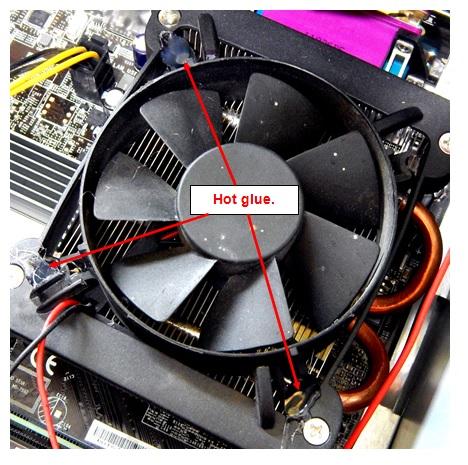 hot glue fan