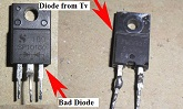 schottky diode shorted