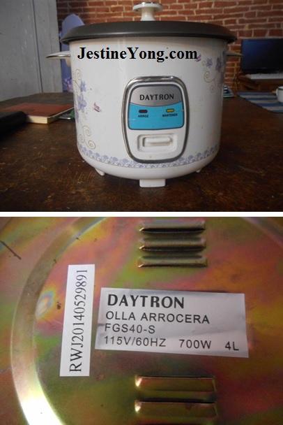 daytron rice cooker repair