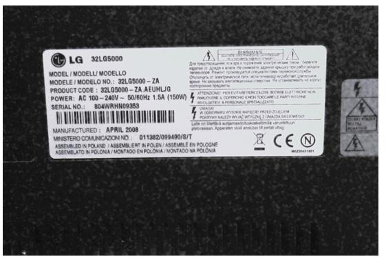 """32"""" LG TV (32 LG 5000-ZA),"""
