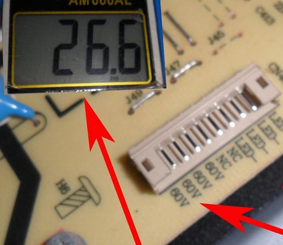 checking led tv voltage