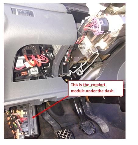 car module computer underneath
