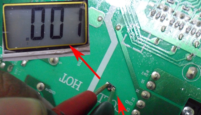 diode shorted reading