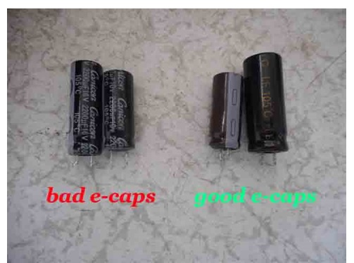 blown capacitor