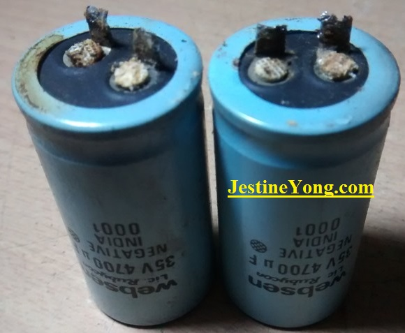 capacitor leaked