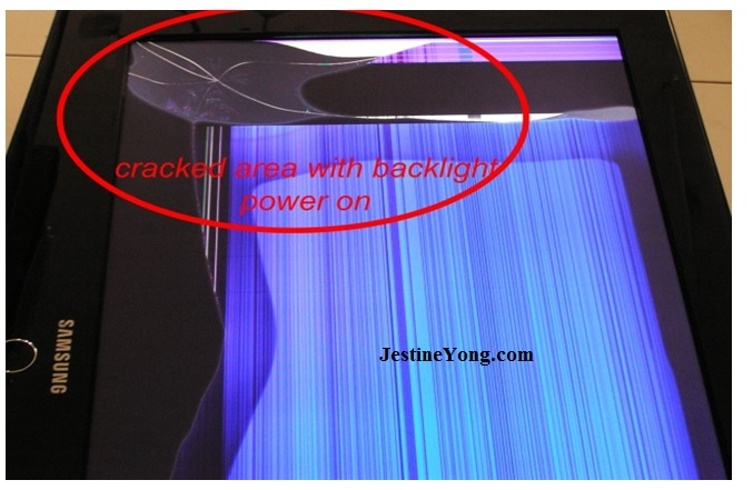 lcd tv cracked screen