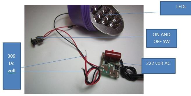 torch light circuit board