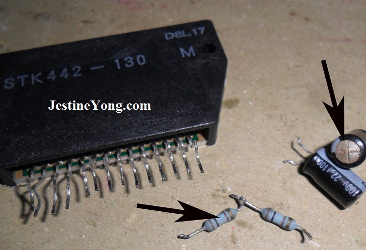 sony push power protect repair stk442-130 ic