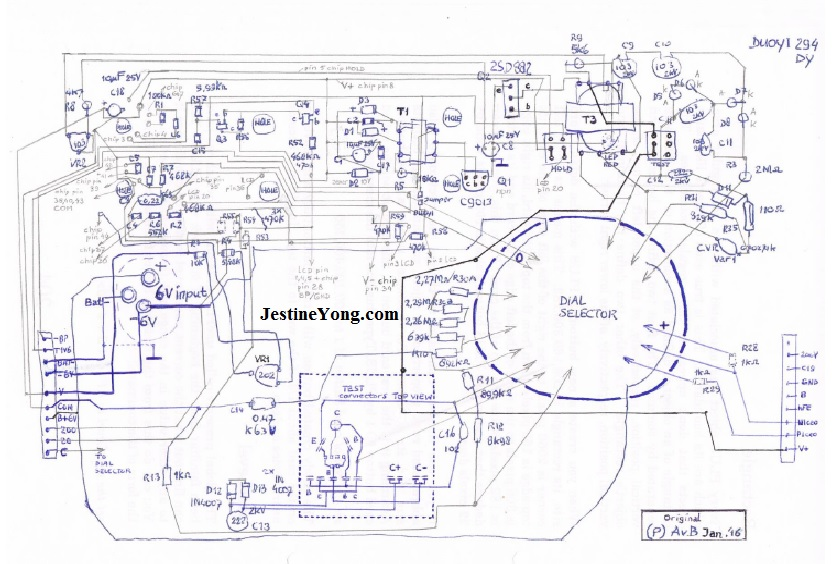 dy294 full schematic hand drawn