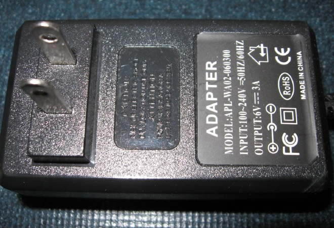 6 volt 3 amp power adapter