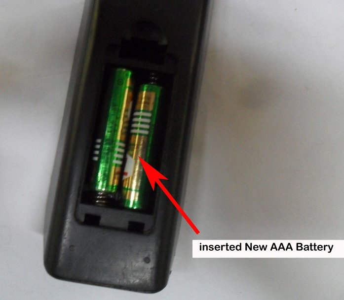 battery in remote control