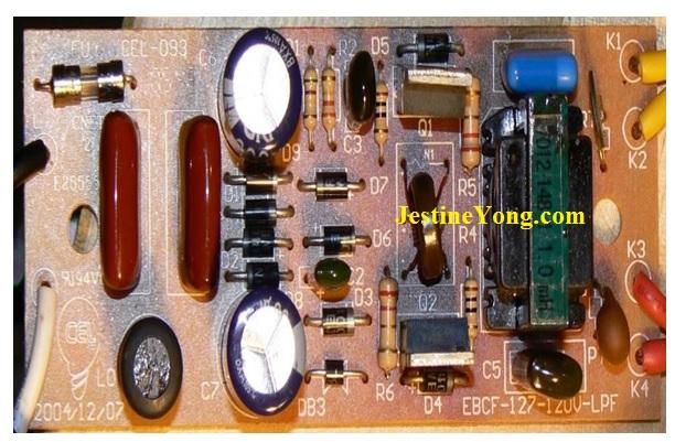fluorescent lamp circuit board repair