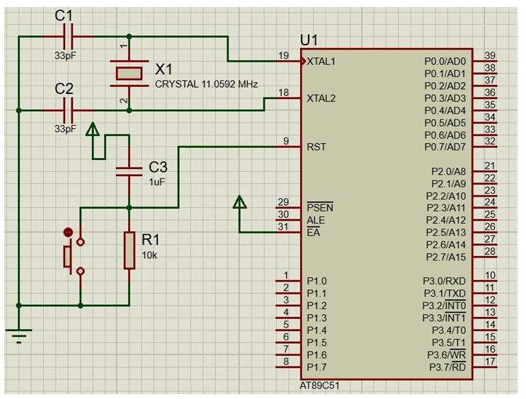 microcontroller schematic diagram