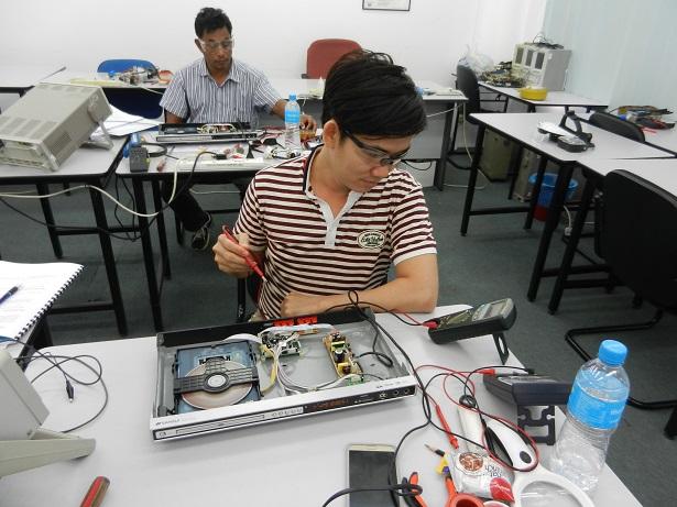 repairing a DVD player