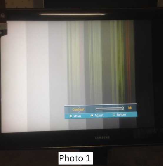 lcd tv verticle lines repair