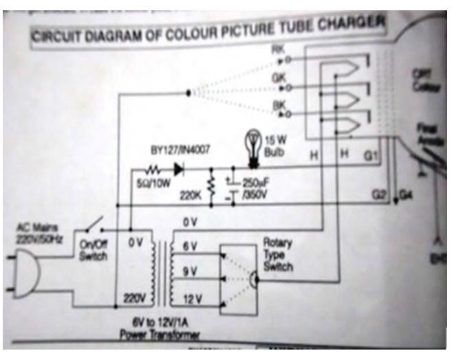 crt tv rejuvenator circuit