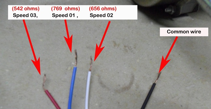 How to easily locate the different speed wires of fan motor fan motor wires greentooth Gallery