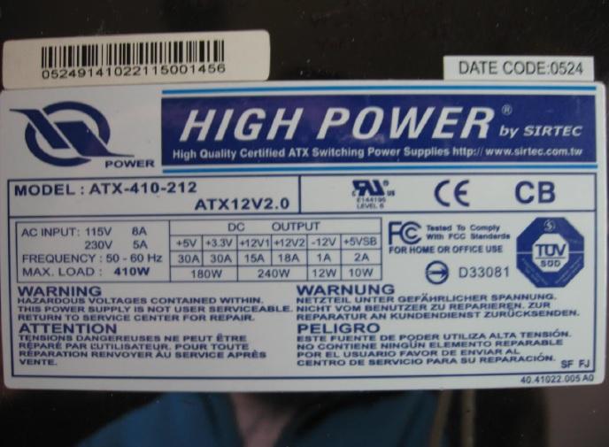 high power atx power supply repair