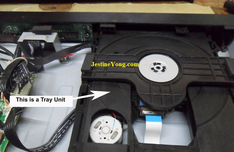 how to open dvd player for repair