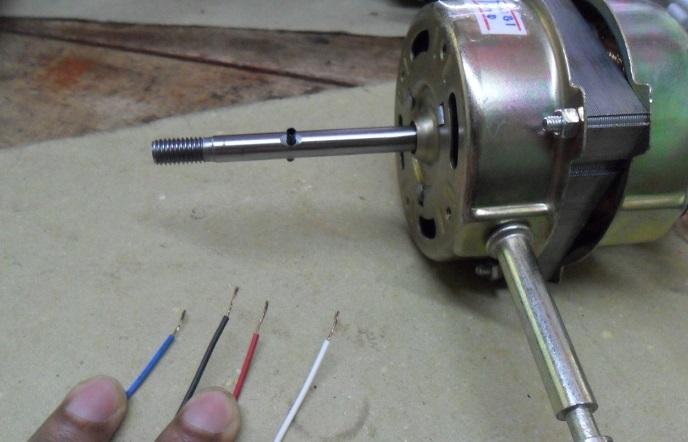 new fan motor install