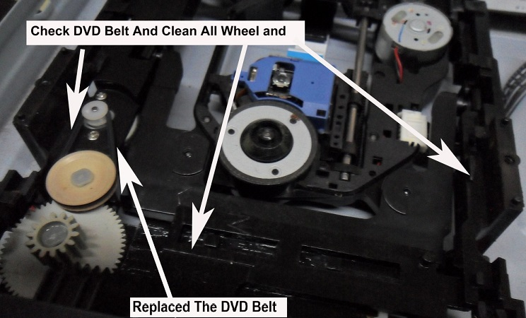 service dvd tray