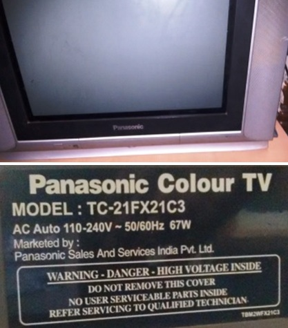 Dead Panasonic TC-21FX21C3 CRT CTV Repaired