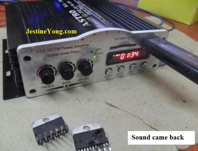 mini amplifier repair