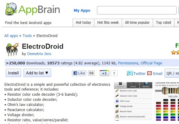 electronics androids apps