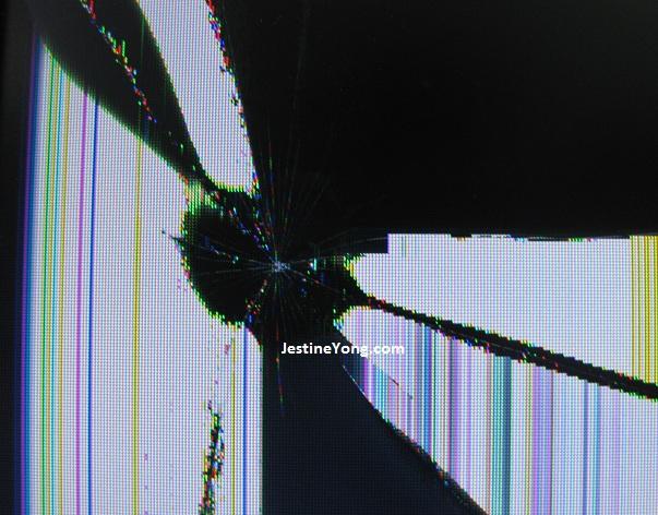 broken lcd monitor panel