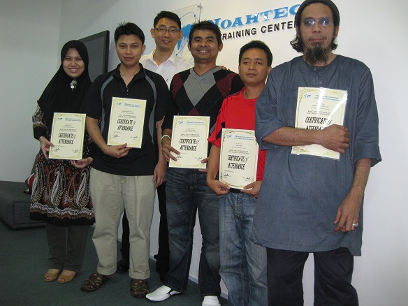 participants in the electronics repair course