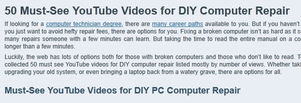 computer repair videos